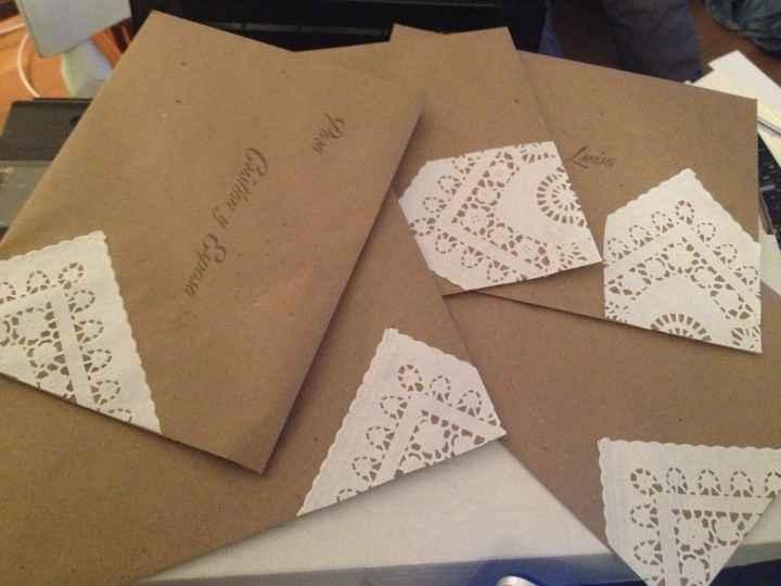 Los sobres de mis partes
