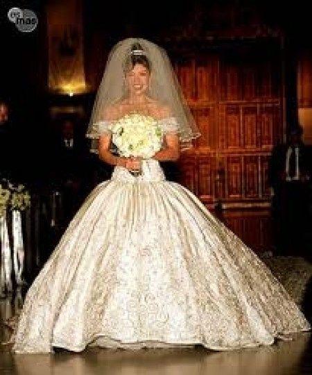 Vestido de boda civil de thalia