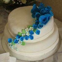 Simples y elegantes: Tortas de novios blancas - 1