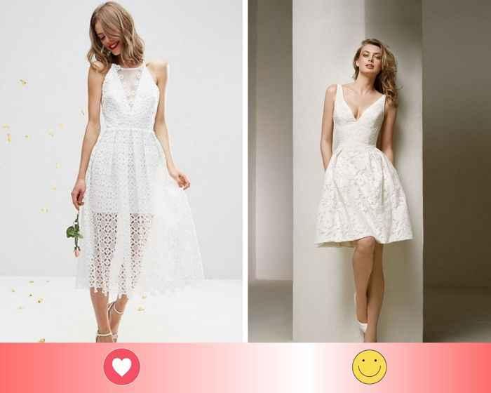 2 vestidos de novia civil: escoge UNO - 1
