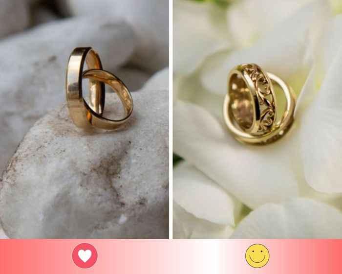 2 argollas de oro: escoge UNO - 1