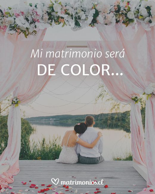 Mi matrimonio será DE COLOR... 2