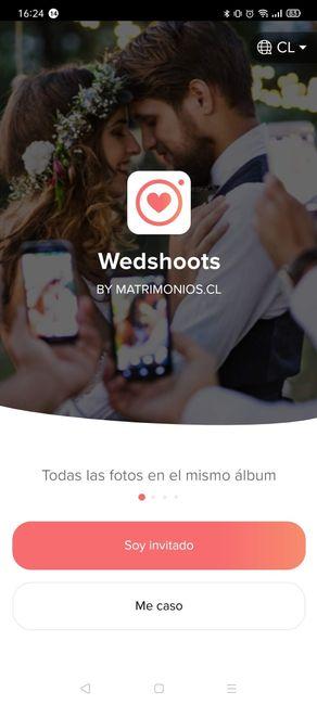 ¡Descarga Wedshoots, la mejor App para tener TODAS las fotos en 1! 1