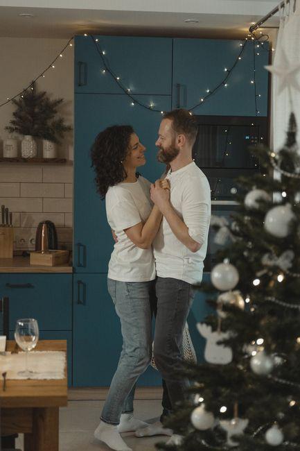 ¿Qué foto pre boda navideña tendrías? 1