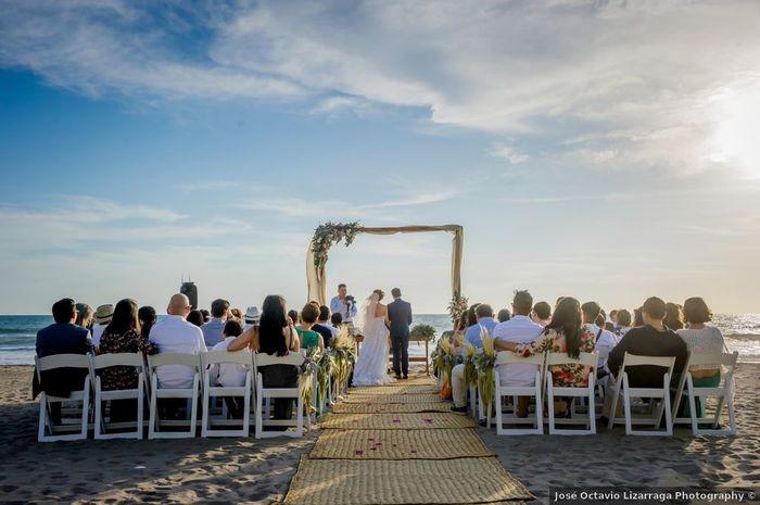¿Harías la ceremonia y la fiesta en la misma playa? 1