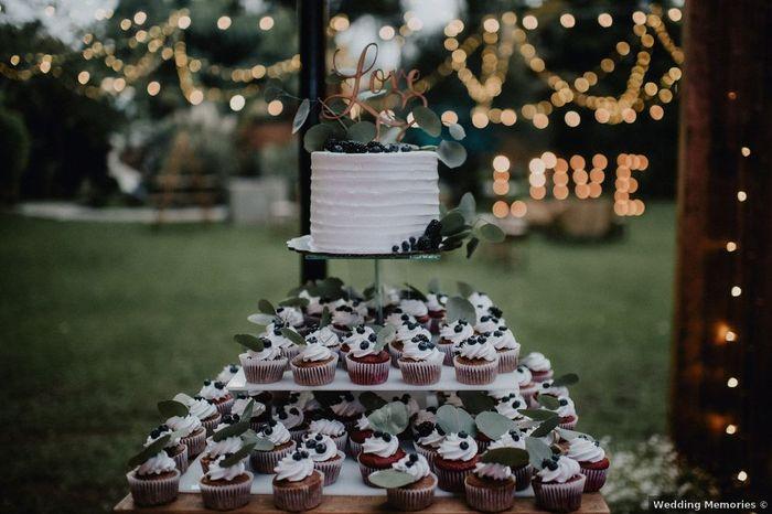 Tortita nupcial + cupcakes: ¿Es una buena opción? 1