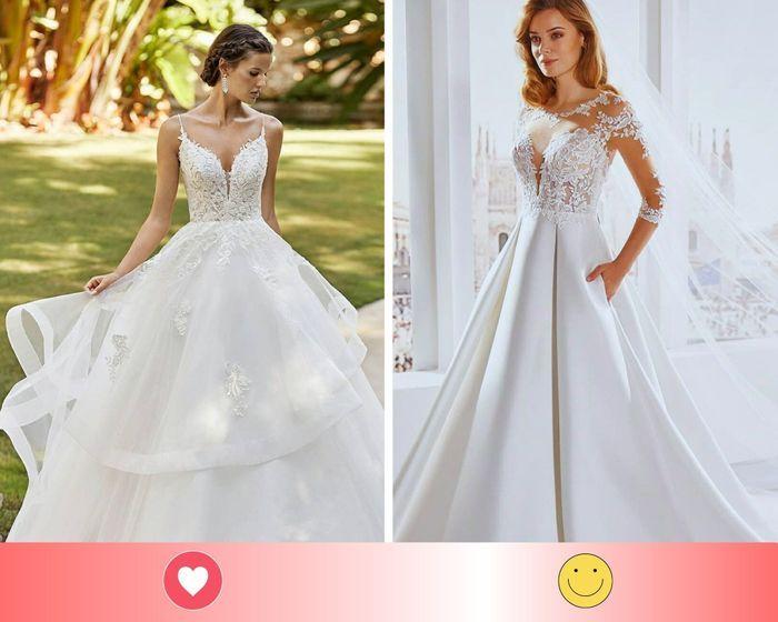 2 vestidos de novia formal: escoge UNO - 1