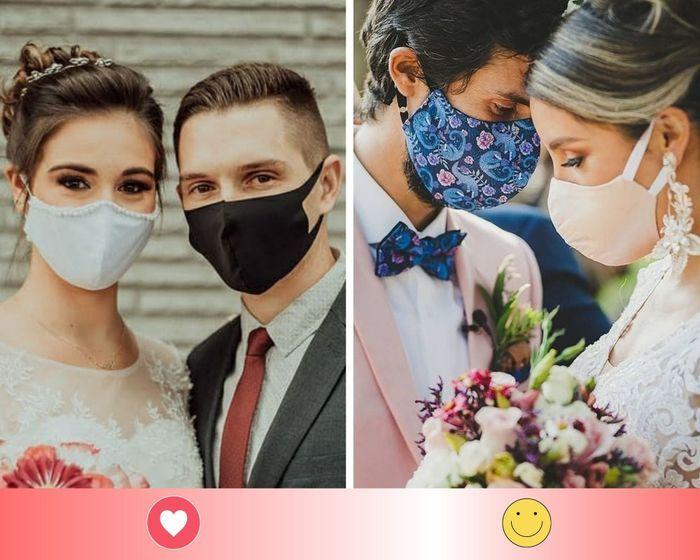 2 mascarillas de novios: escoge UNO - 1