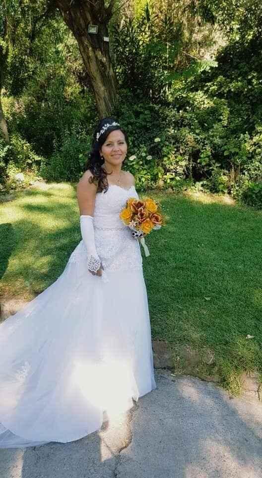excelente vestido, Hermosa la novia