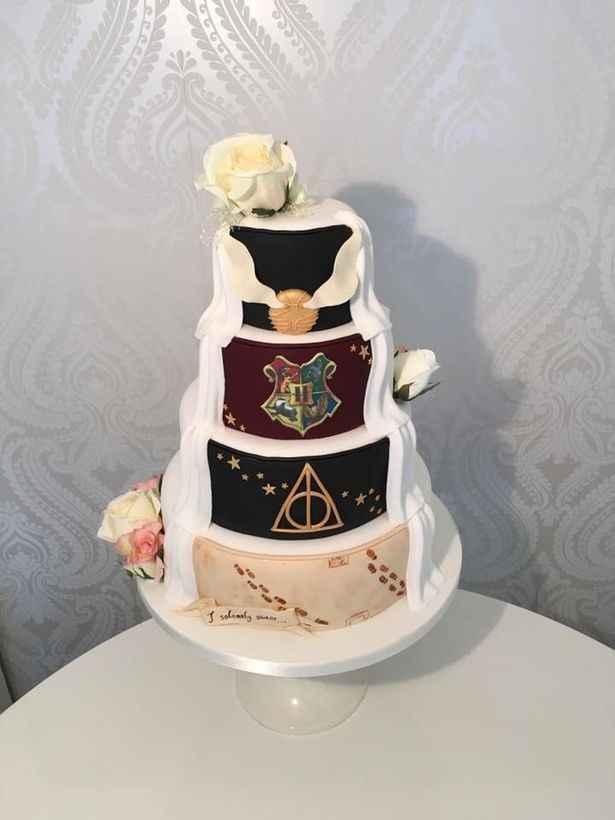 Torta temática HP