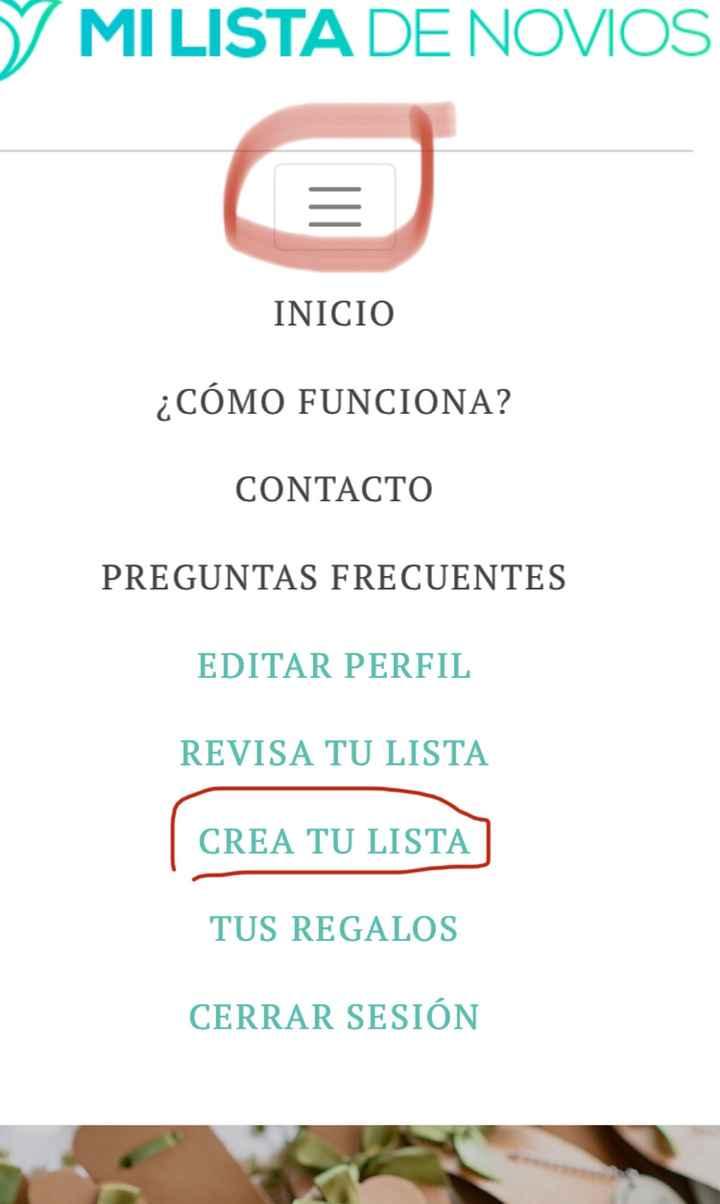"""""""Mi lista de novios"""" para los invitados - 1"""