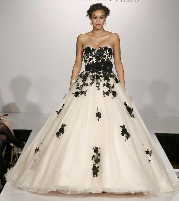 Vestidos de novia de color blanco y negro