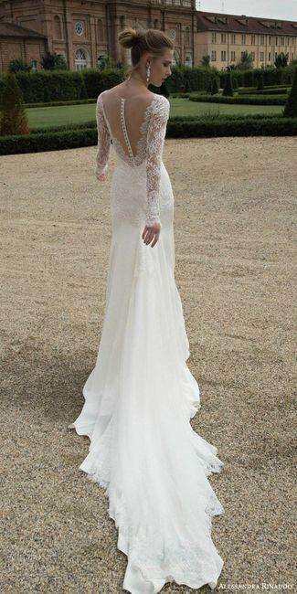 Vestido con botones en la espalda n. 2 - Alessandra Rinaudo