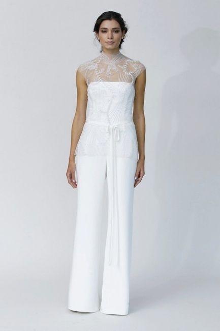 vestido novia pantalón