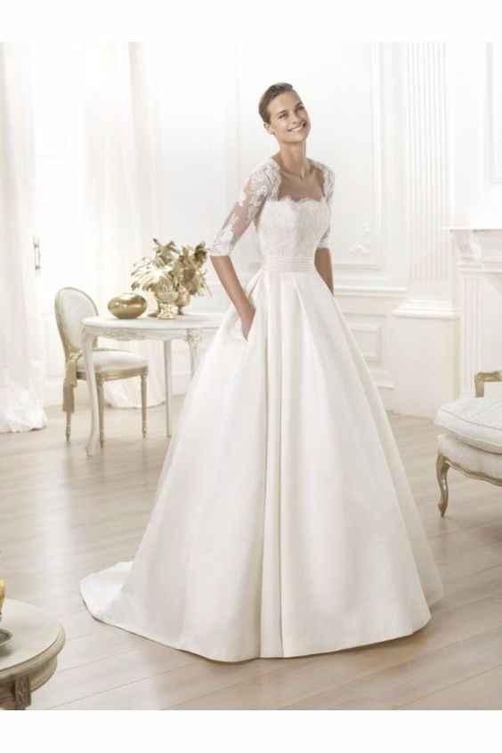 Vestido novia con bolsillos