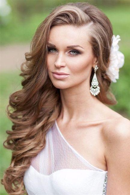 Peinados de novia pelo largo suelto