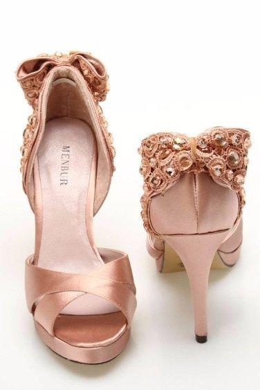 zapatos color nude para novia: ¿cuál eliges?