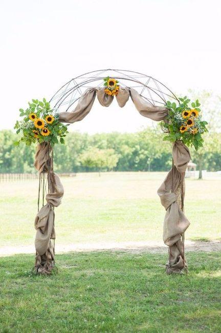 Matrimonio con girasoles arco de flores for Bodas en el campo decoracion