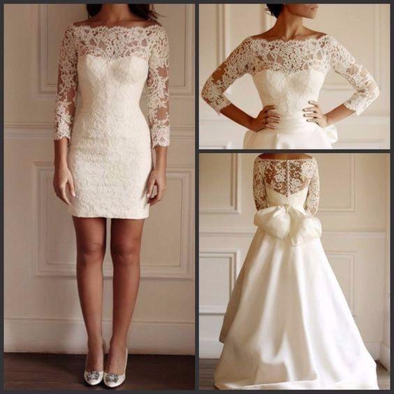 Vestidos de novia desmontables 2019