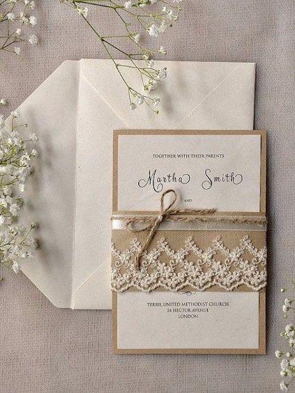 Invitaciones Para Matrimonio Rustico : Invitaciones de estilo rústico