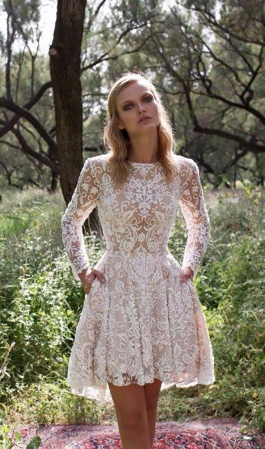 Vestidos para matrimonio civil de invierno