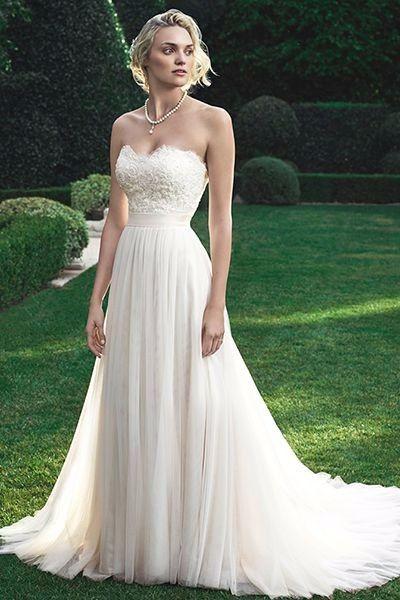 matrimonio al aire libre: el vestido de novia