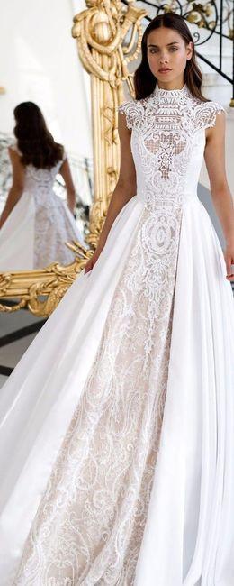 10 vestidos cuellos alto para novias vintage