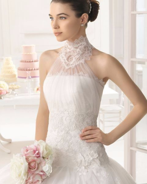 vestidos cuello alto para novias: ¿sí o no?