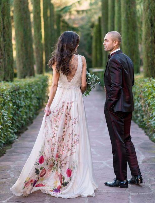 Vestidos boda estampados