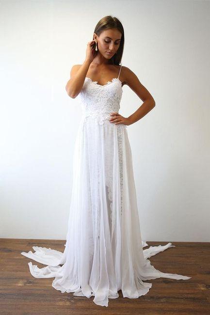 5b147be575 Vestidos ligeros para una novia de verano