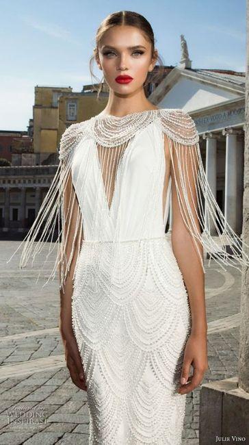 6 vestidos de novia con flecos