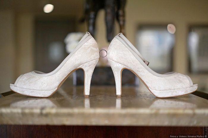dónde encontraste tus zapatos de novia?