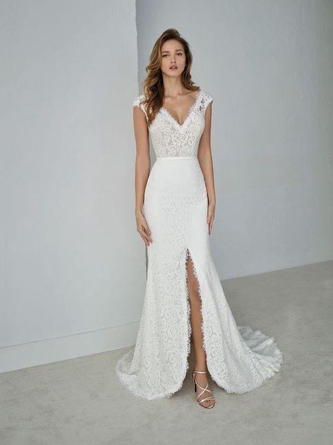 vestidos con tajo para novias de verano. ¿abiertos al medio o al