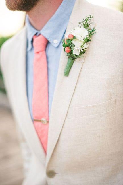 Combinar a gravata com o boutonniere? Claro que sim! 🤵🏽 2