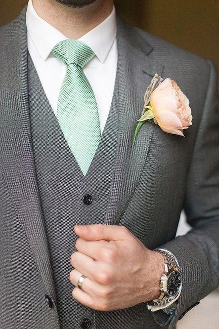 Combinar a gravata com o boutonniere? Claro que sim! 🤵🏽 3