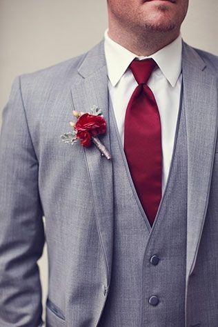 Combinar a gravata com o boutonniere? Claro que sim! 🤵🏽 8