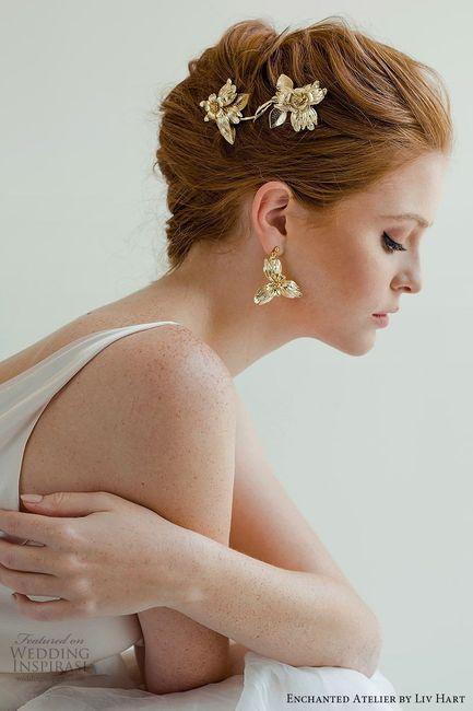 3a9b5e9061ae Aros grandes y dorados para novias 4