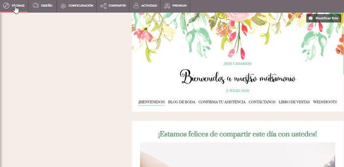 web de boda