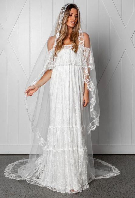 ¡El vestido de mis sueños lo quiero con este velo! 1
