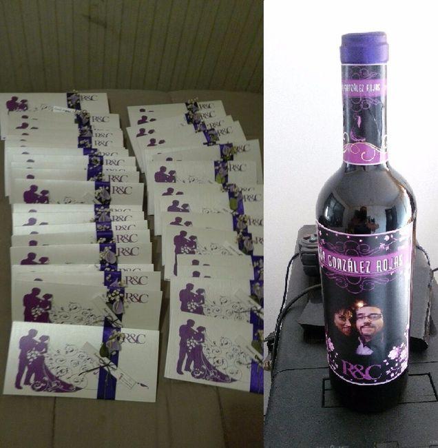 Diseñando, haciendo nuestras tarjetas y etiquetas de vino