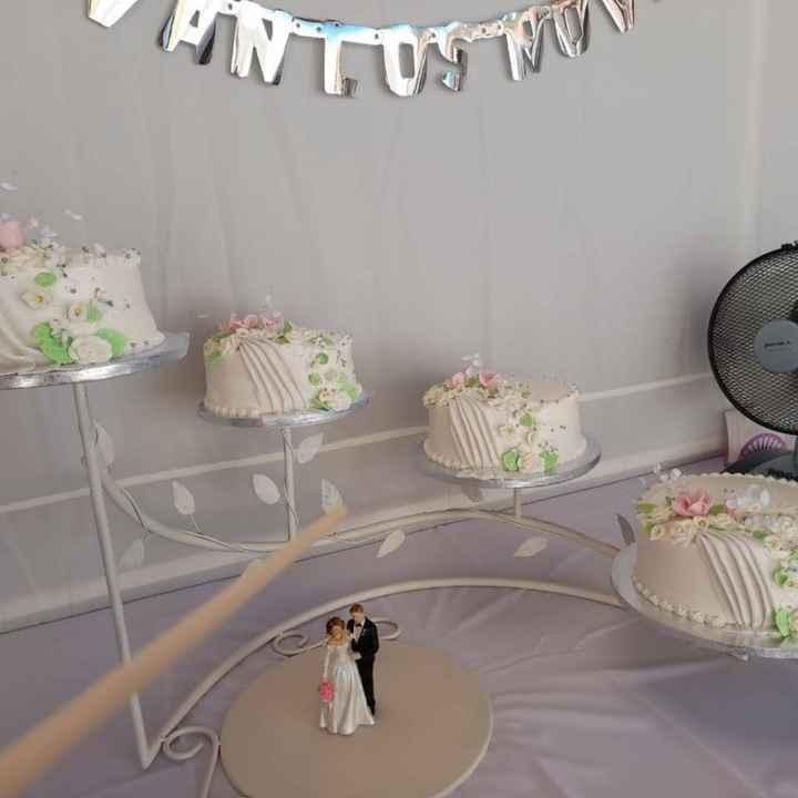 Diseño torta de novios - 1