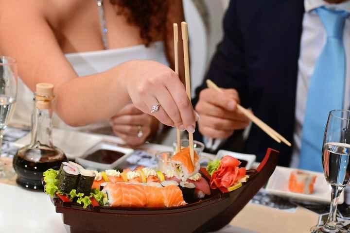 ¿Te atreves a ofrecer sushi en tu matrimonio? - 1