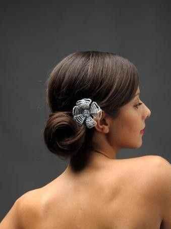 10 peinados para novias con poco cabello - 1