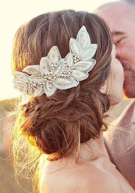 10 peinados para novias con poco cabello - 6