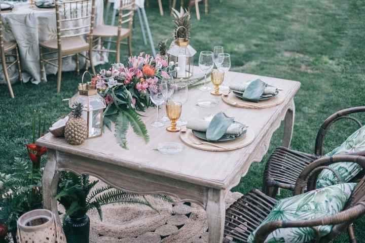 ¡Decora la mesa de novios con estas 5 ideas! 👇 - 1