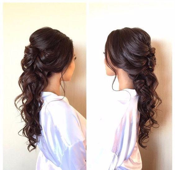 Peinados con el pelo semirecogido