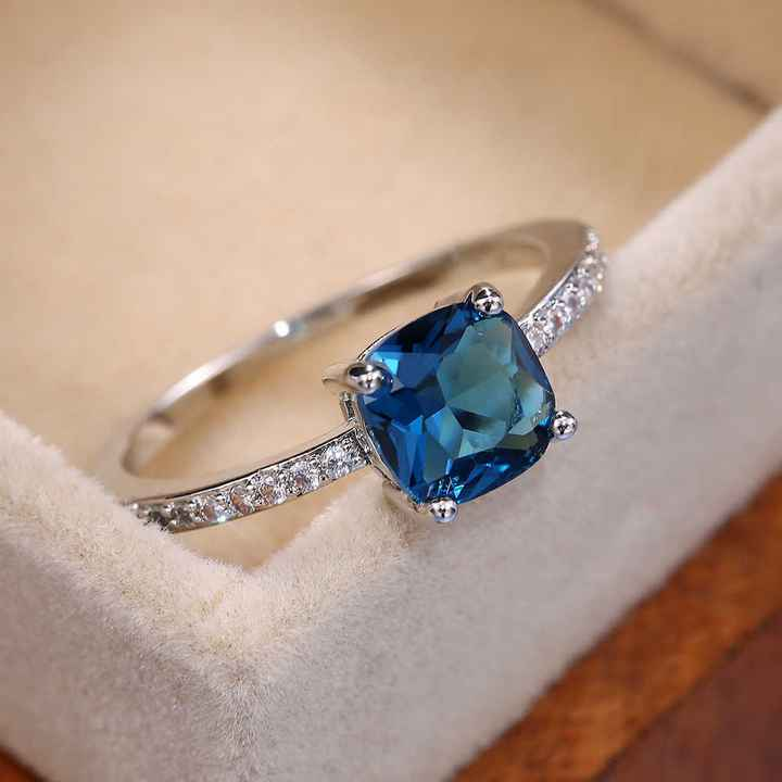 💎💙5 anillos con piedras AZULES: ¿Eliges uno?💎💙 2