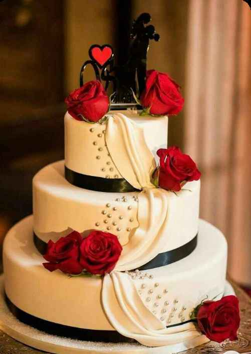 Diseño torta de novios - 3