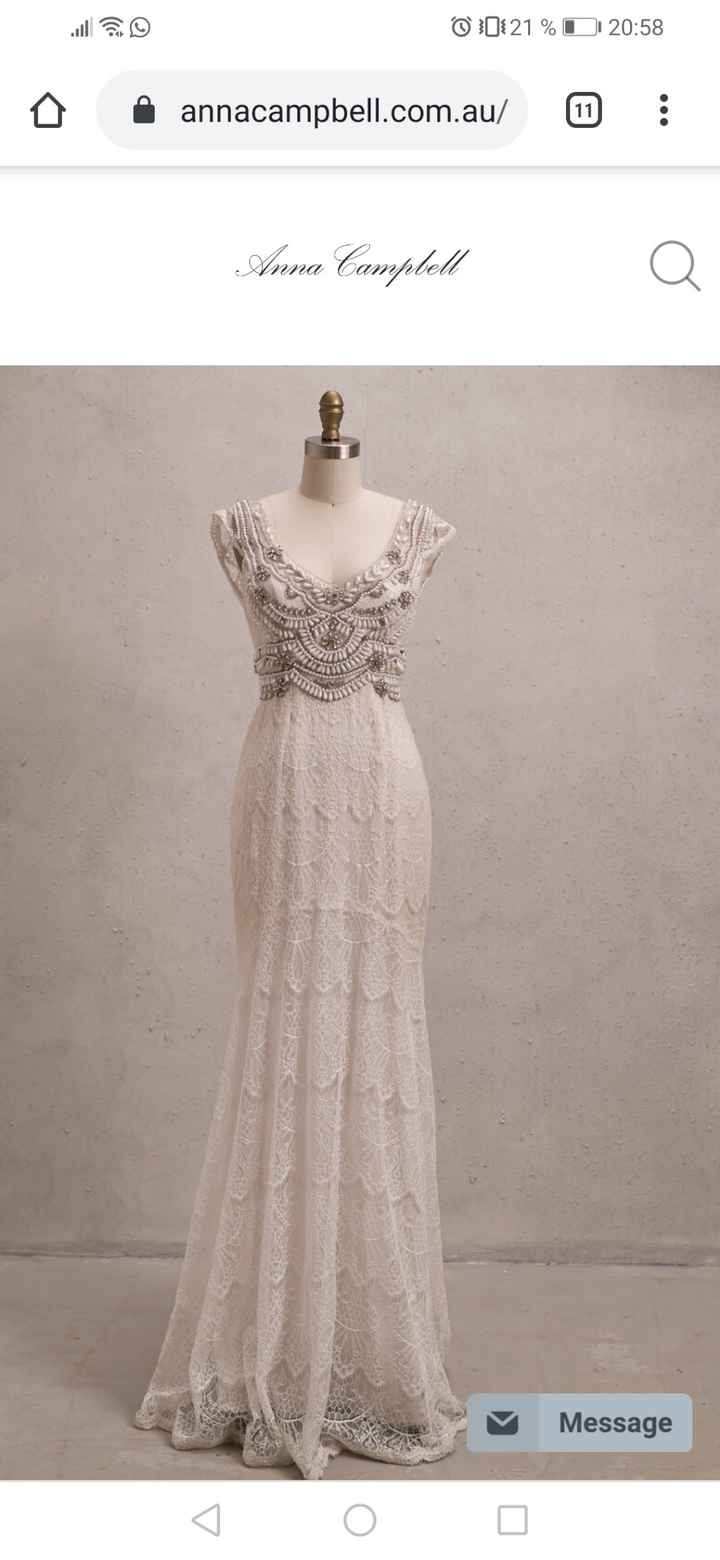 ¿Cuál es la marca de su vestido de novia? 👗 - 1