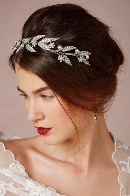 10 Peinados Elegantes Para Novias De Pelo Corto - Peinados-para-novias-pelo-corto